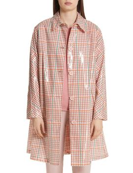 Laminated Check Coat by Mansur Gavriel