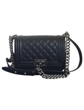 Boy Le Small Black Leather Cross Body Bag by Chanel