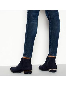 Principles   Navy 'celia' Pointed Toe Ankle Boots by Principles