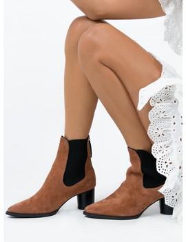 Sol Sana Ashton Boots Burnt Tan Suede by Sol Sana