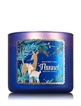 Bath & Body Works Flannel 3 Wick Scented Candle 14.5 Oz / 411g by Bath & Body Works