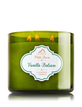 Bath & Body Works 3 Wick Candle Vanilla Balsam White Barn 3 Wick Candle 14.5 Oz / 411 G by Bath & Body Works