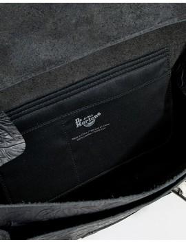 Dr Martens Embossed Leather Satchel 15 Inch by Dr Martens