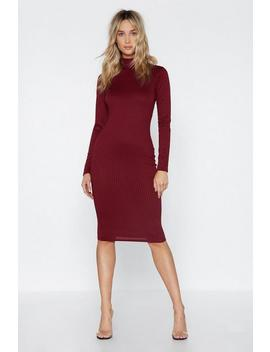 Rib It Real Good Midi Dress by Nasty Gal