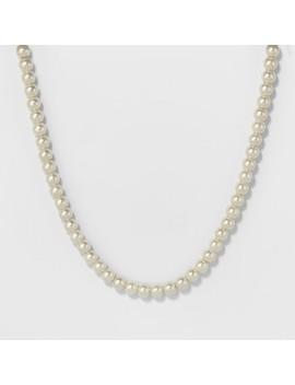 Short Pearl Necklace   A New Day™ Silver by A New Day