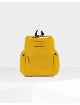 """<Span Itemprop=""""Name"""">Original Top Clip Backpack   Rubberised Leather</Span>:                     <Span>Yellow</Span> by Hunter"""