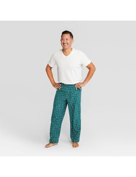 Men's Holiday Santa Hat Pajama Pants   Wondershop™ Green by Shop This Collection