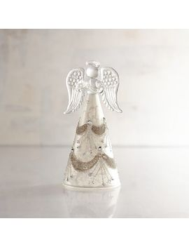 Collectible Glass Angel With Gems Christmas Figurine by Pier1 Imports
