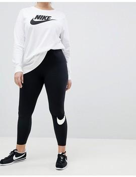 Nike Plus   Club   Leggings à Logo Virgule   Noir by Nike