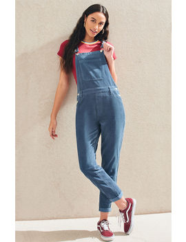 Pac Sun Dusty Blue Corduroy Overalls by Pacsun