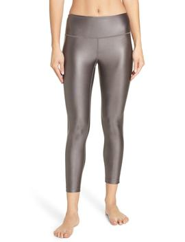 High Waist Shine Midi Leggings by Zella