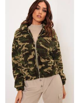 Camouflage Borg Bomber Jacket by I Saw It First