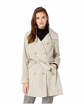 Drape Back Belted Trench by French Connection