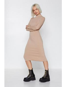 Keep Knit To Yourself Midi Dress by Nasty Gal