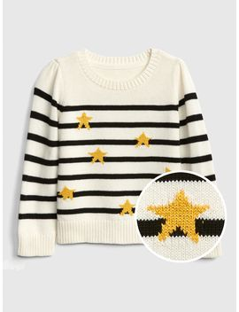 Metallic Star Stripe Sweater by Gap
