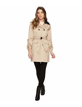 Db Belted Trench With Contrast Color And Roll Up Sleeves by Vince Camuto