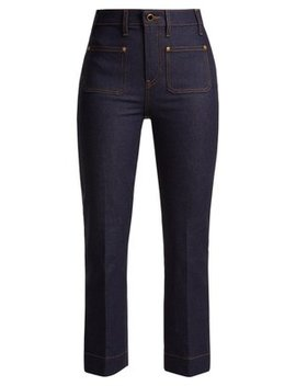 Raquel Cropped Denim Jeans by Khaite