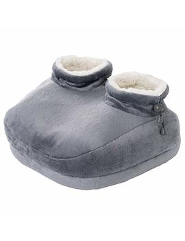 Pure Enrichment Pure Relief Deluxe Foot Warmer   Super Soft Sherpa Lined, Fast Heating Electric Boots With 4 Temperature Settings, Machine Washable Fabric, Durable Anti Slip Sole And Auto Shut Off by Pure Enrichment