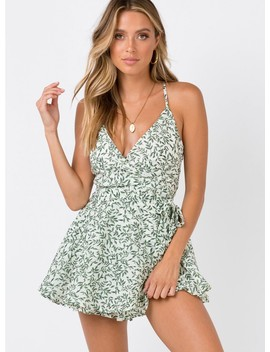 The Redbone Playsuit by Princess Polly