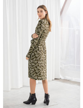 Leopard Print Wrap Midi Dress by & Other Stories