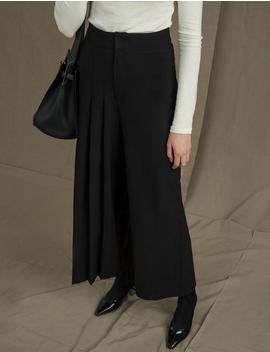 Side Pleated Pants by Pixie Market