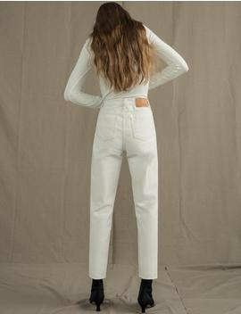 Ivory High Waist Jeans by Pixie Market