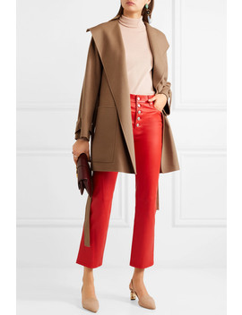 Lista Belted Wool Blend Coat by Joseph