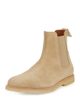 Calf Suede Chelsea Boot, Tan by Common Projects