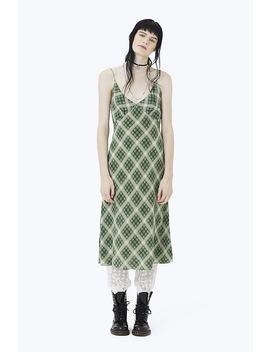 Plaid Strap Midi Dress by Marc Jacobs