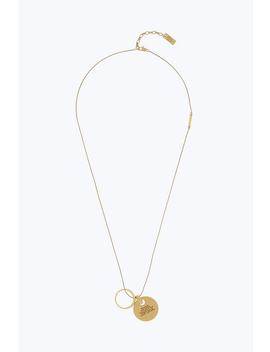 Engraved Pendant Necklace by Marc Jacobs