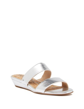 Lanelle Metallic Slide Sandal by Sam Edelman