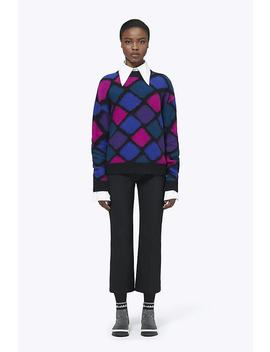 Cashmere Mohair Harlequin Diamond Mockneck Sweater by Marc Jacobs