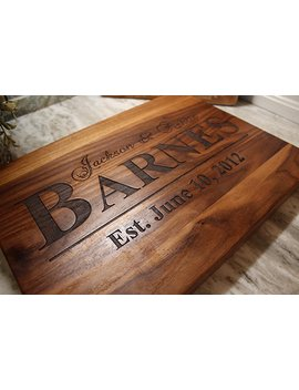 Personalized Christmas Gift For Mr Or Mrs Cutting Board! Wedding And Anniversary Gifts by Amazon