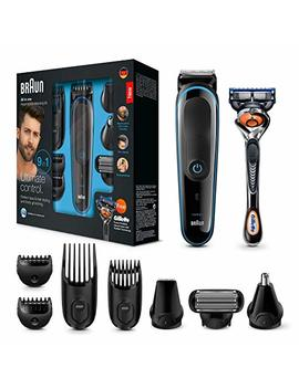 Braun 9 In 1 All In One Trimmer Mgk3085, Beard Trimmer And Hair Clipper, Body Groomer (Uk 2 Pin Bathroom Plug) by Braun