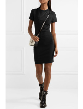 Layered Ribbed Stretch Jersey Mini Dress by T By Alexander Wang
