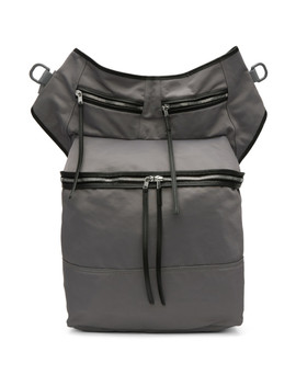 Grey Techno Trench Messenger Bag by Rick Owens Drkshdw
