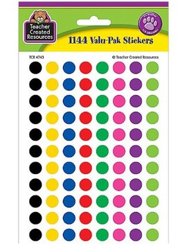 Teacher Created Resources Colorful Circles Mini Stickers Value Pack, Multi Color (4743) by Teacher Created Resources