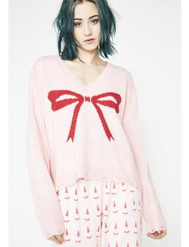 Gift Bow Clement Sweater by Wildfox Couture