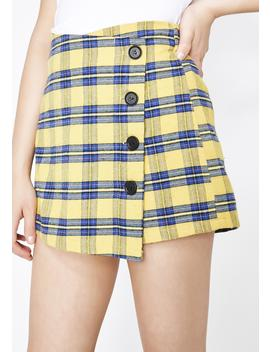 Beverly Hills Plaid Mini Skirt by Love Harmony