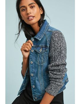 Pilcro Sweater Sleeve Denim Jacket by Pilcro And The Letterpress