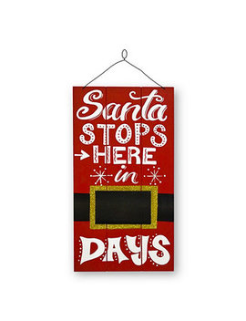 "National Tree 22"" Santa Countdown Wall Art by National Tree Company"