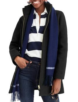 Lodge Italian Stadium Cloth Wool Coat by J.Crew