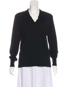 Cashmere V Neck Sweater by Chanel