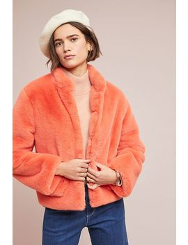 Mango Faux Fur Jacket by D Ra