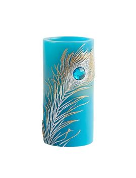 Led 3 X6 Peacock Candle by Pier1 Imports