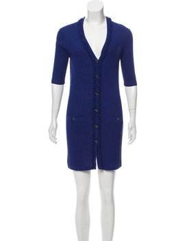 Knit Button Up Dress by Chanel