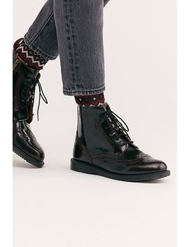 Dr. Martens Delphine 8 Eye Brogue Boot by Free People