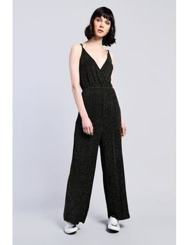 **Shimmer Metallic Thread Jumpsuit By Glamorous by Topshop