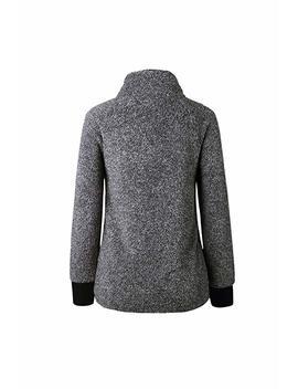 Womens Pullover Sweatshirt Fleece Fuzzy Color Block Casual Sweater Tops by Amazon
