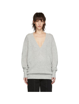 Grey Cashmere Cadzi Sweater by Isabel Marant